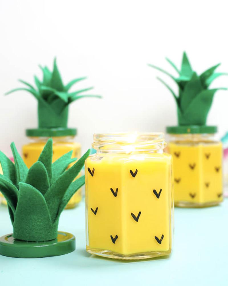 bougie diy ananas
