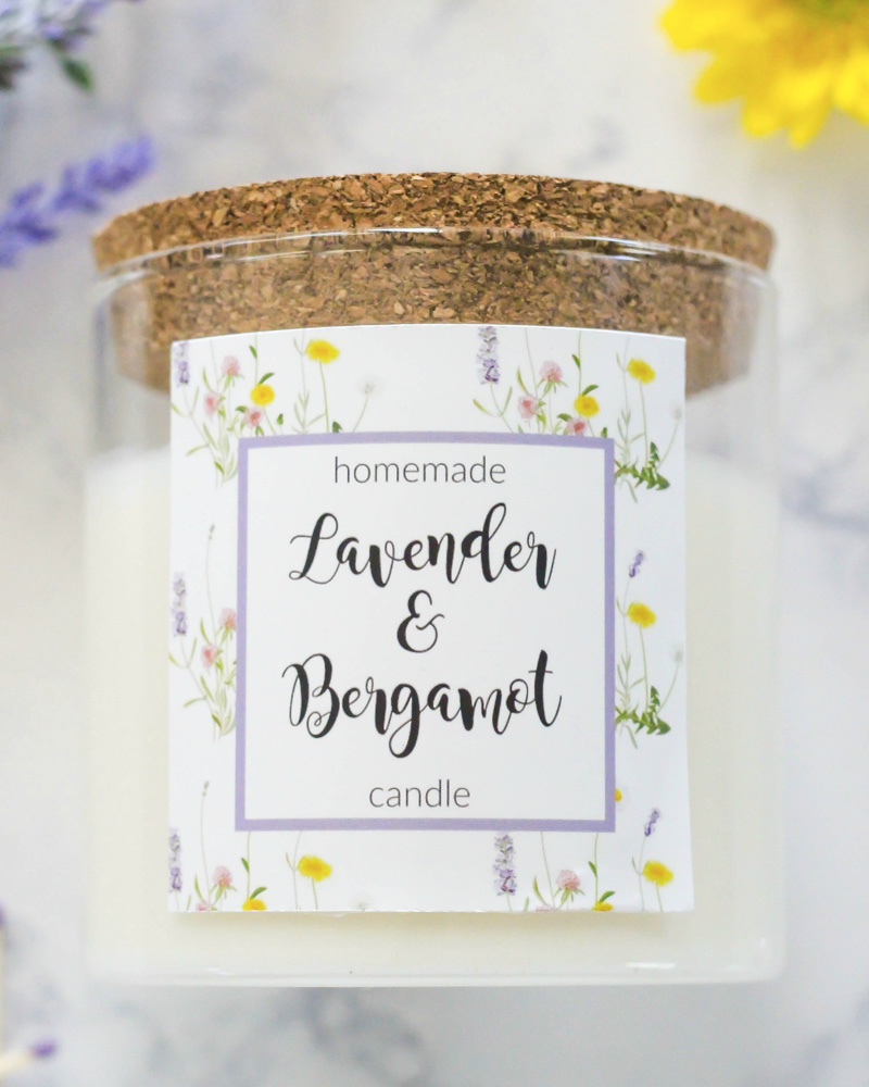 bougie diy lavande bergamote