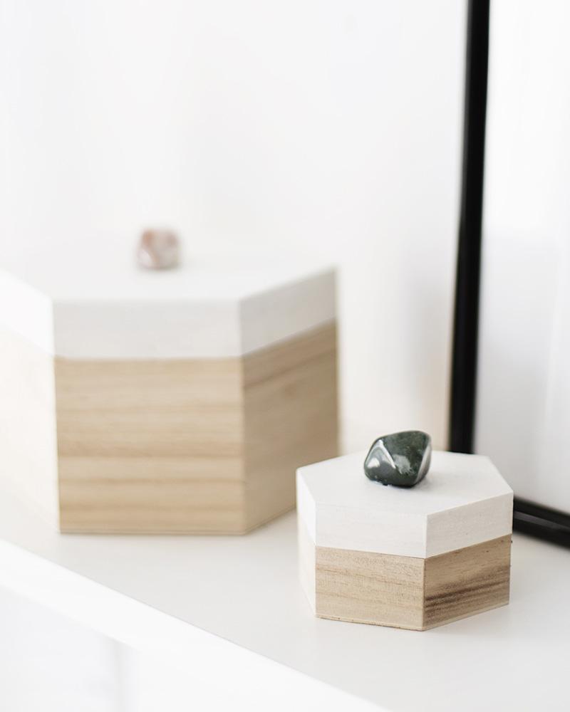 boite diy bureau pierre