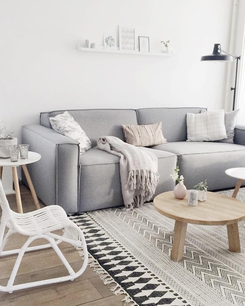 Comment décorer votre salon avec le gris et le blanc ?  Shake My Blog
