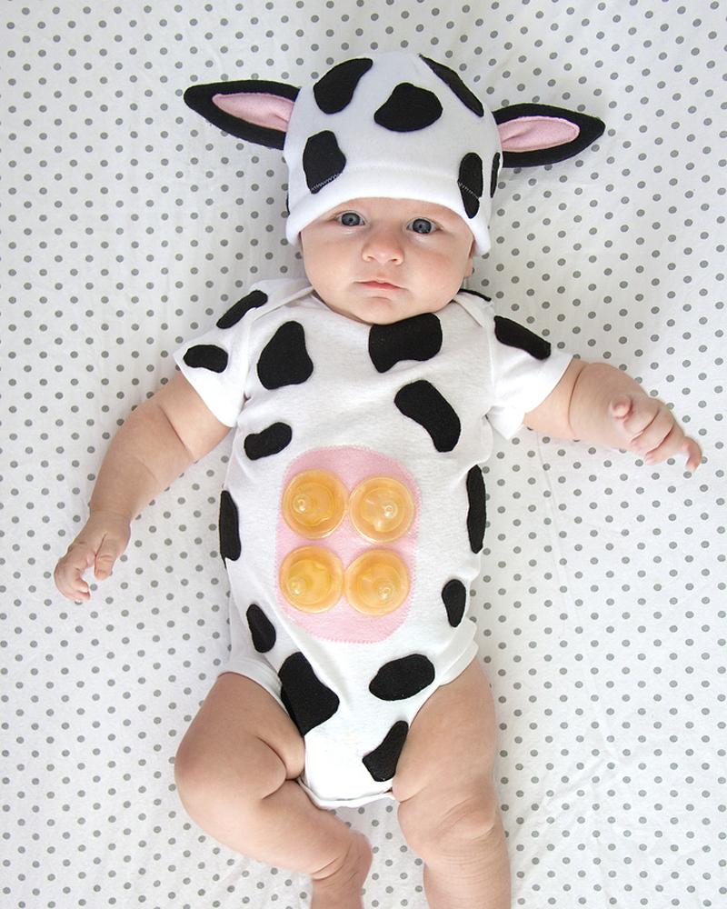 déguisement halloween diy bebe vache