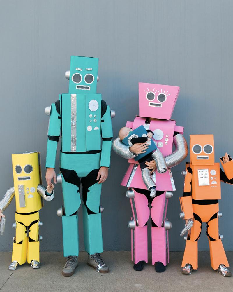 déguisement halloween diy adulte robot
