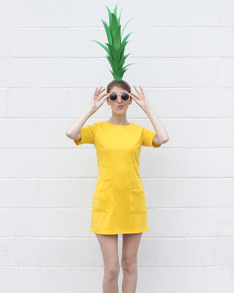 déguisement halloween diy adulte ananas