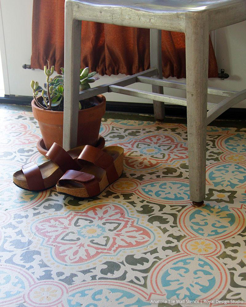 diy carreaux ciment sol