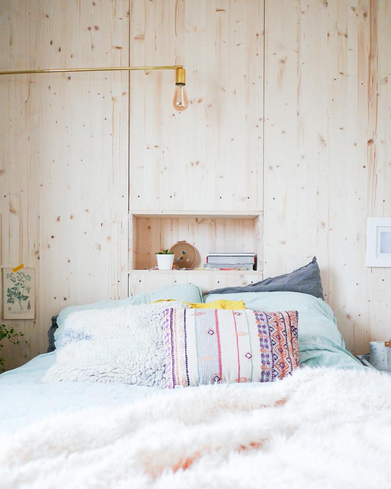 tete de lit diy bois