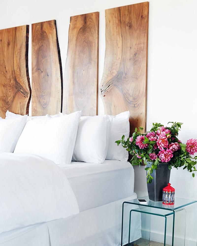 tete de lit diy bois planche