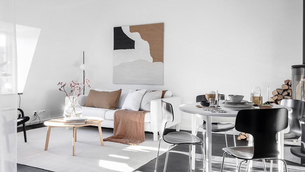 appartement deco contemporaine noir blanc