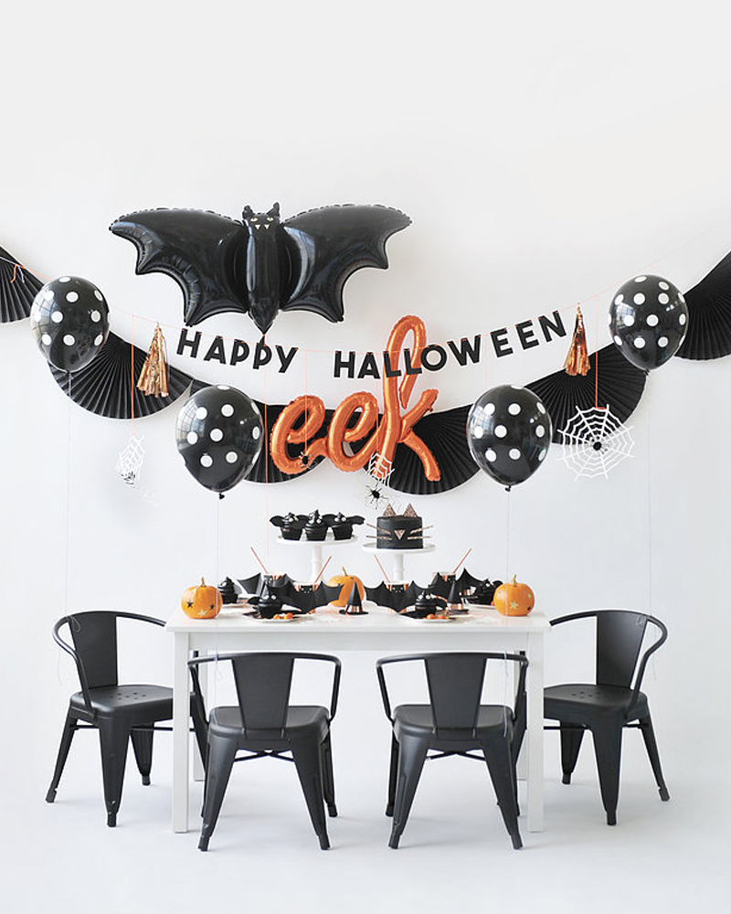 deco table halloween contemporaine