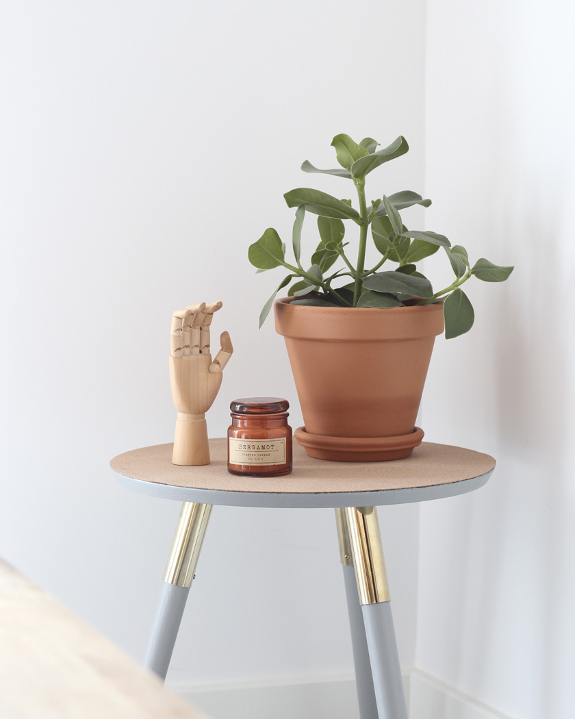 Une Table D Appoint En Liege Diy Shake My Blog