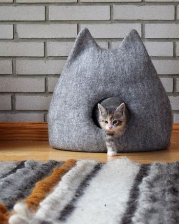 cabane chat feutre