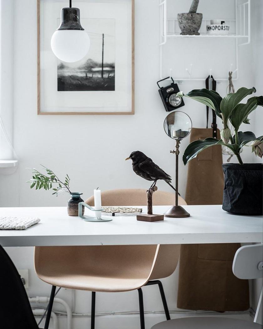 chaise scandinave bois bureau