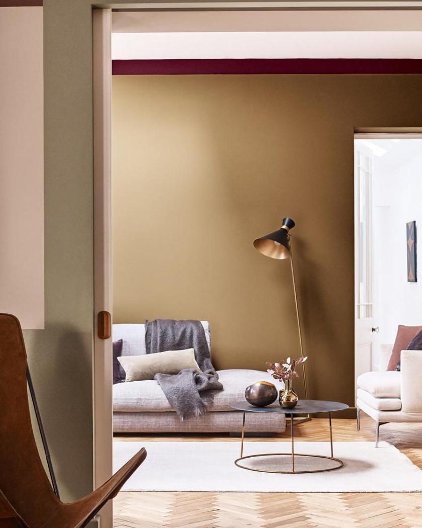 Couleur Mur Salon 2019 miel ambré, couleur de l'année 2019 par dulux valentine
