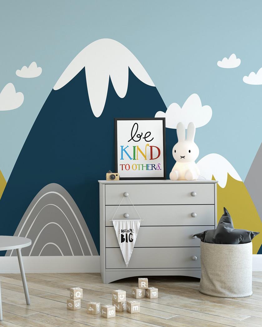 18 façons de créer un mur montagne dans la chambre des enfants