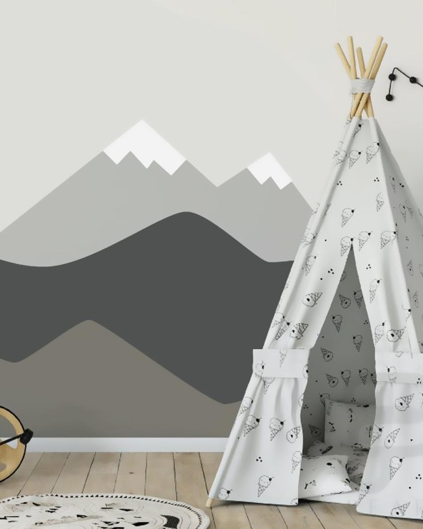 17 façons de créer un mur montagne dans la chambre des enfants
