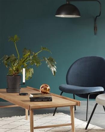 table basse rectangulaire bois avec rebords