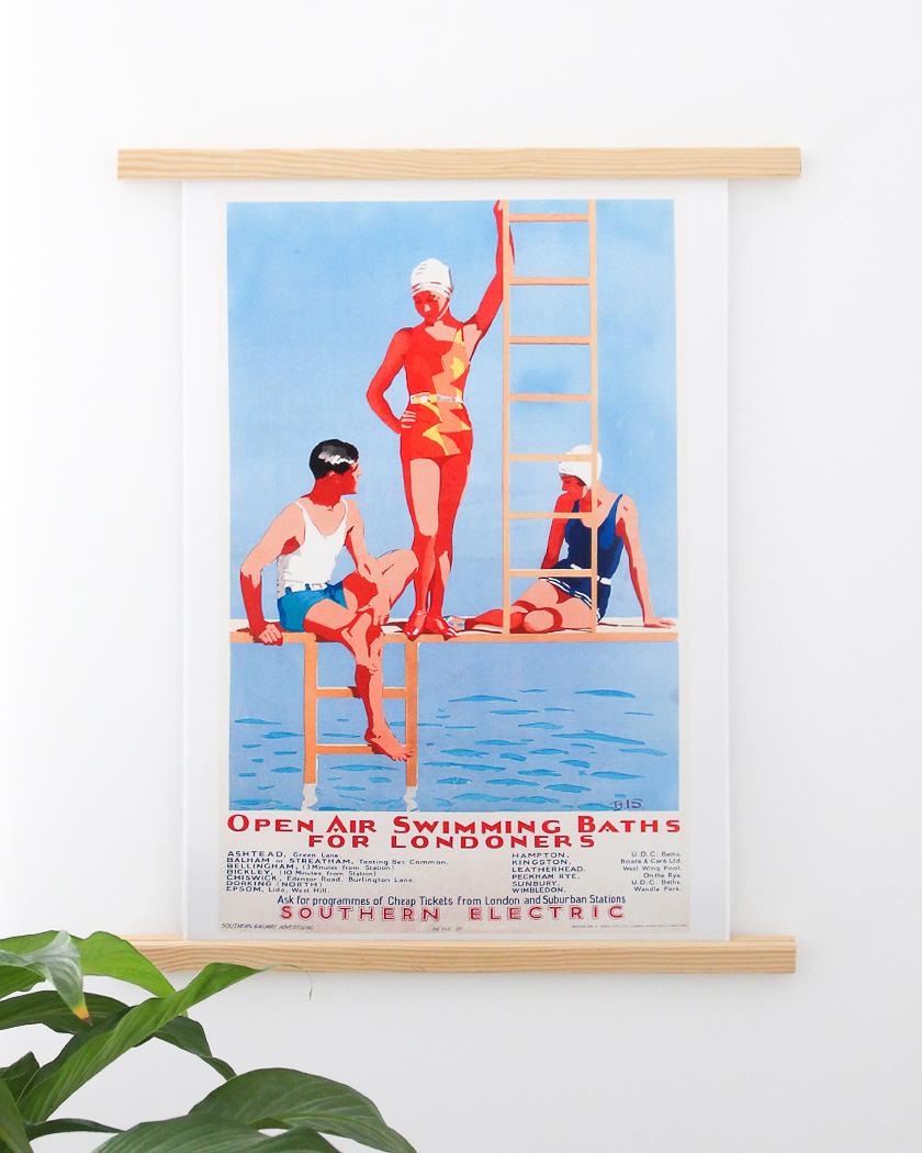 affiche deco murale posterlounge vintage