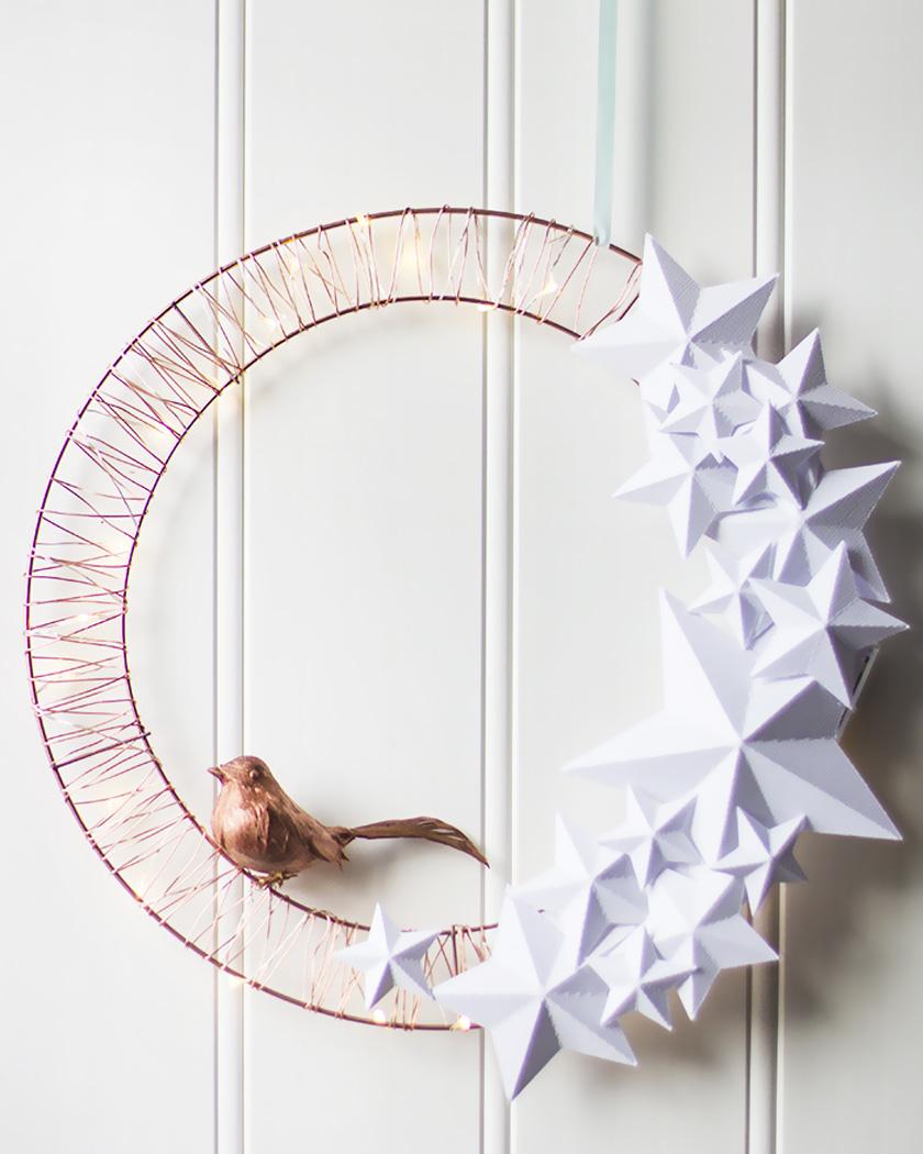 couronne noel diy originale étoiles papier