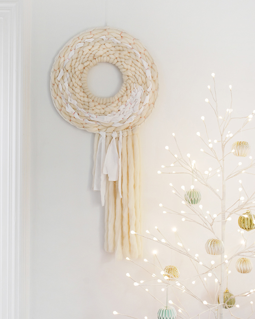 couronne noel diy originale tissage