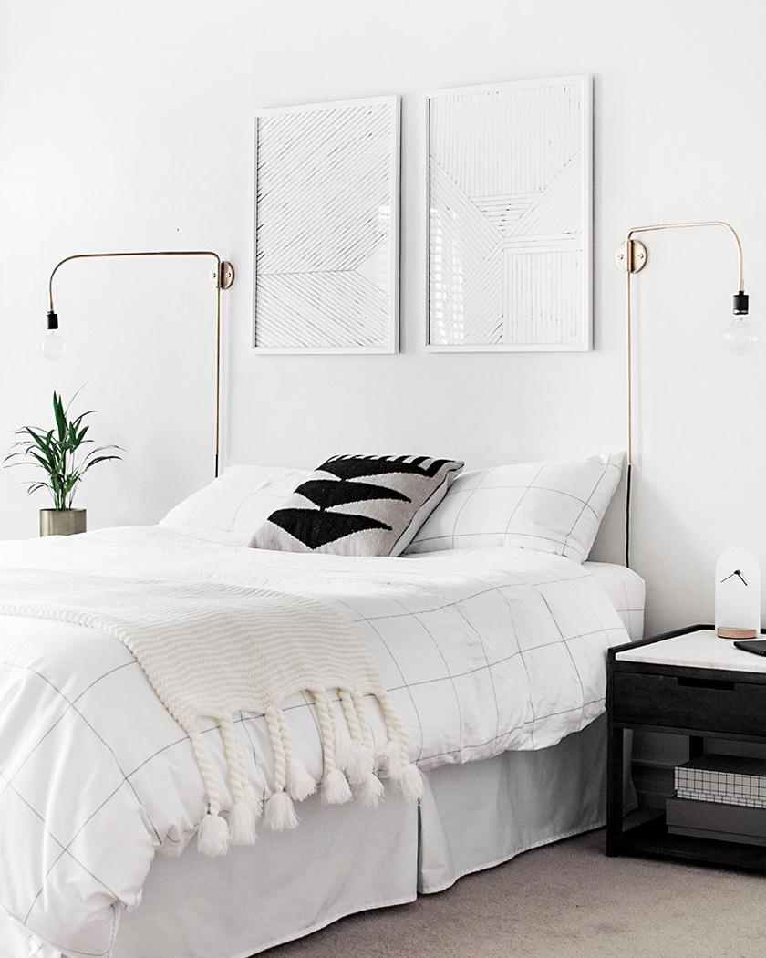 deco chambre parentale moderne blanc