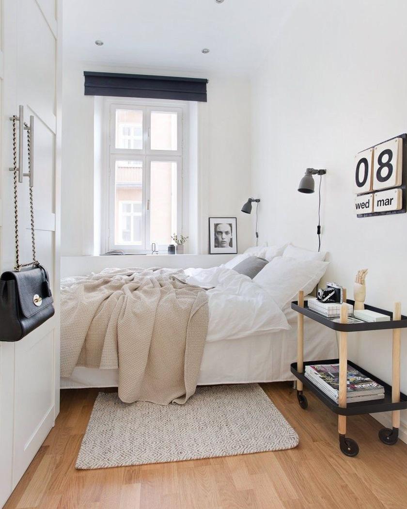 deco chambre parentale moderne blanc et rose