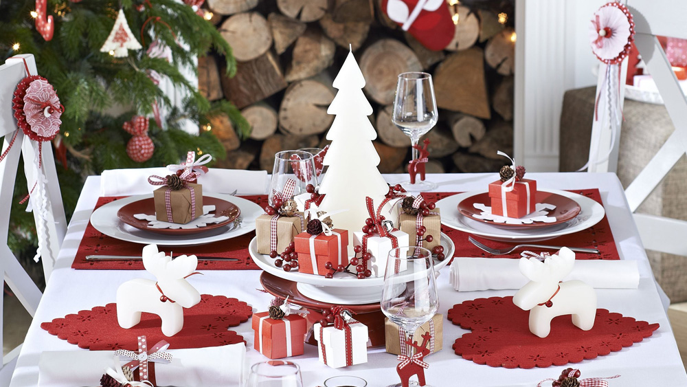 Idee de decoration de table de noel