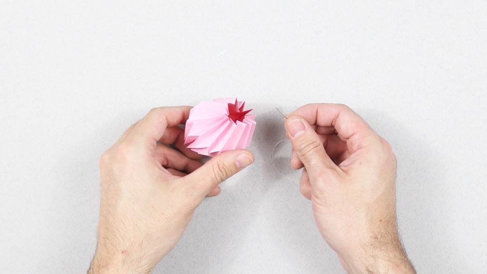 guirlande lumineuse origami diy