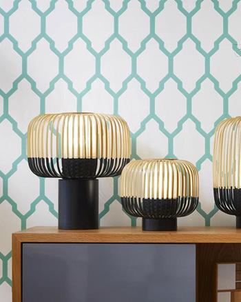 lampe bambou noire