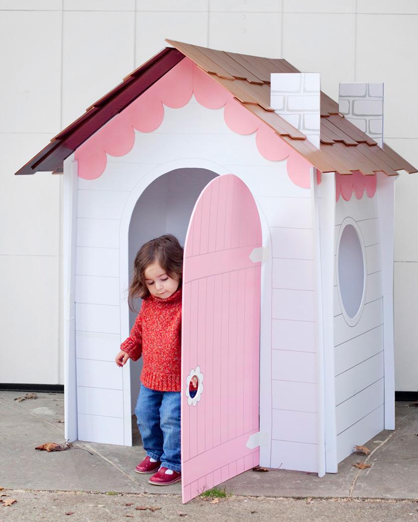Cabane En Carton Diy une cabane diy pour les enfants | shake my blog