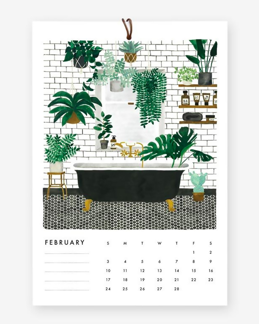 calendrier 2019 mural urban jungle