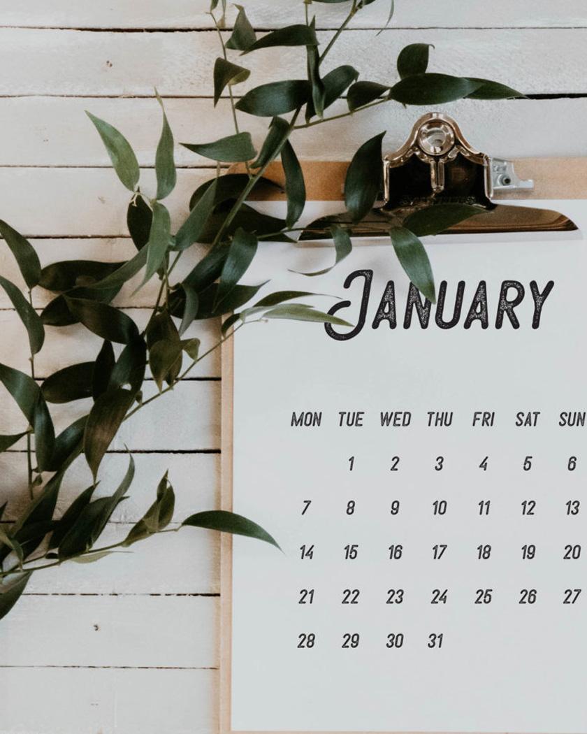 calendrier 2019 gratuit à imprimer noir blanc
