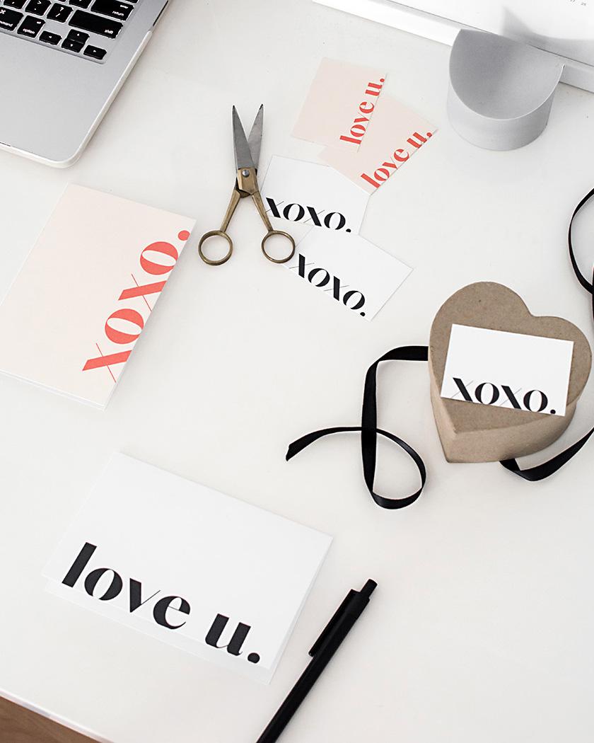 diy a imprimer saint valentin carte moderne