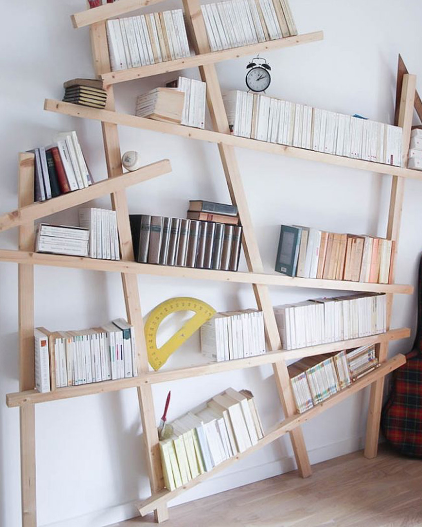 bibliothèque diy mikado géante