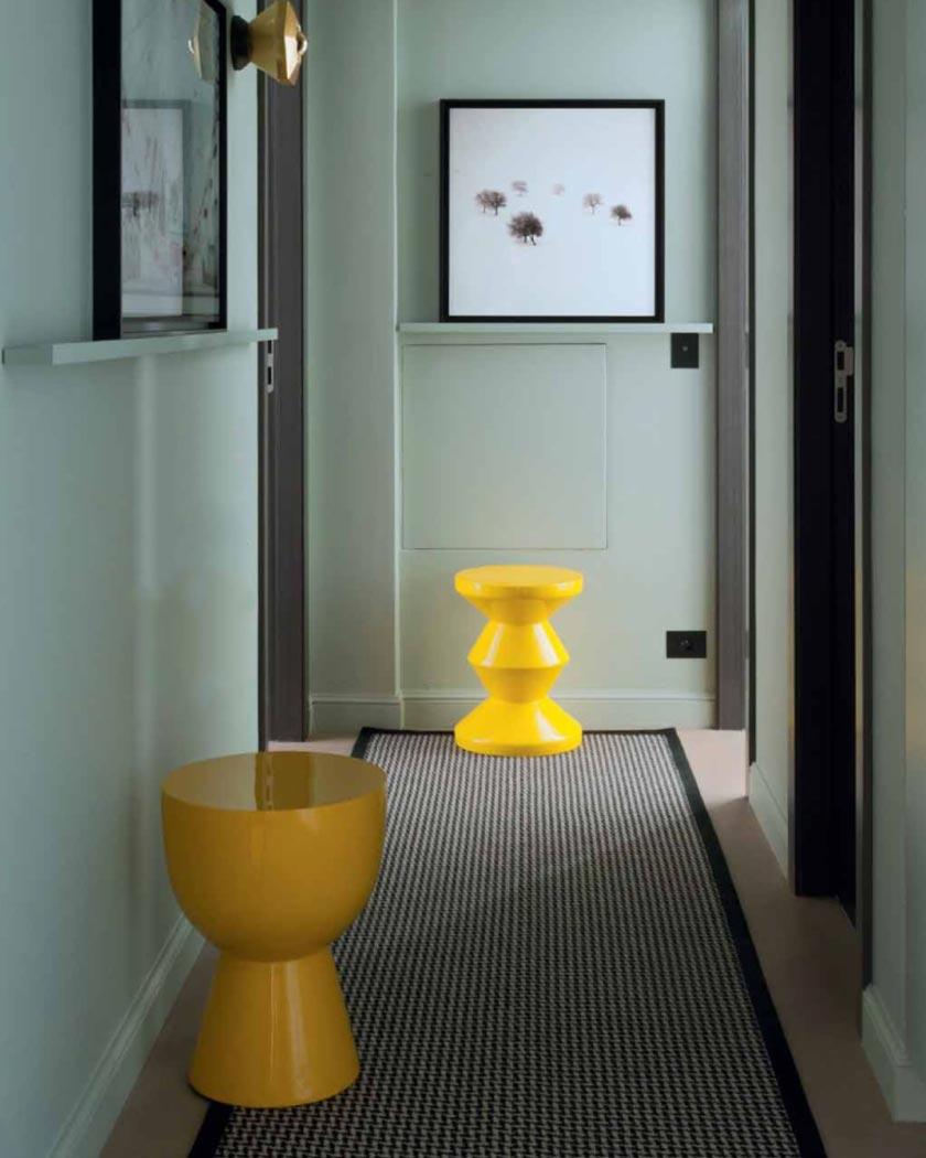 couleur jaune moutarde deco tabouret design