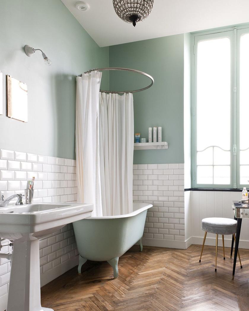 Salle D Eau Blanche Et Bois utiliser le carrelage métro dans la salle de bain | shake my