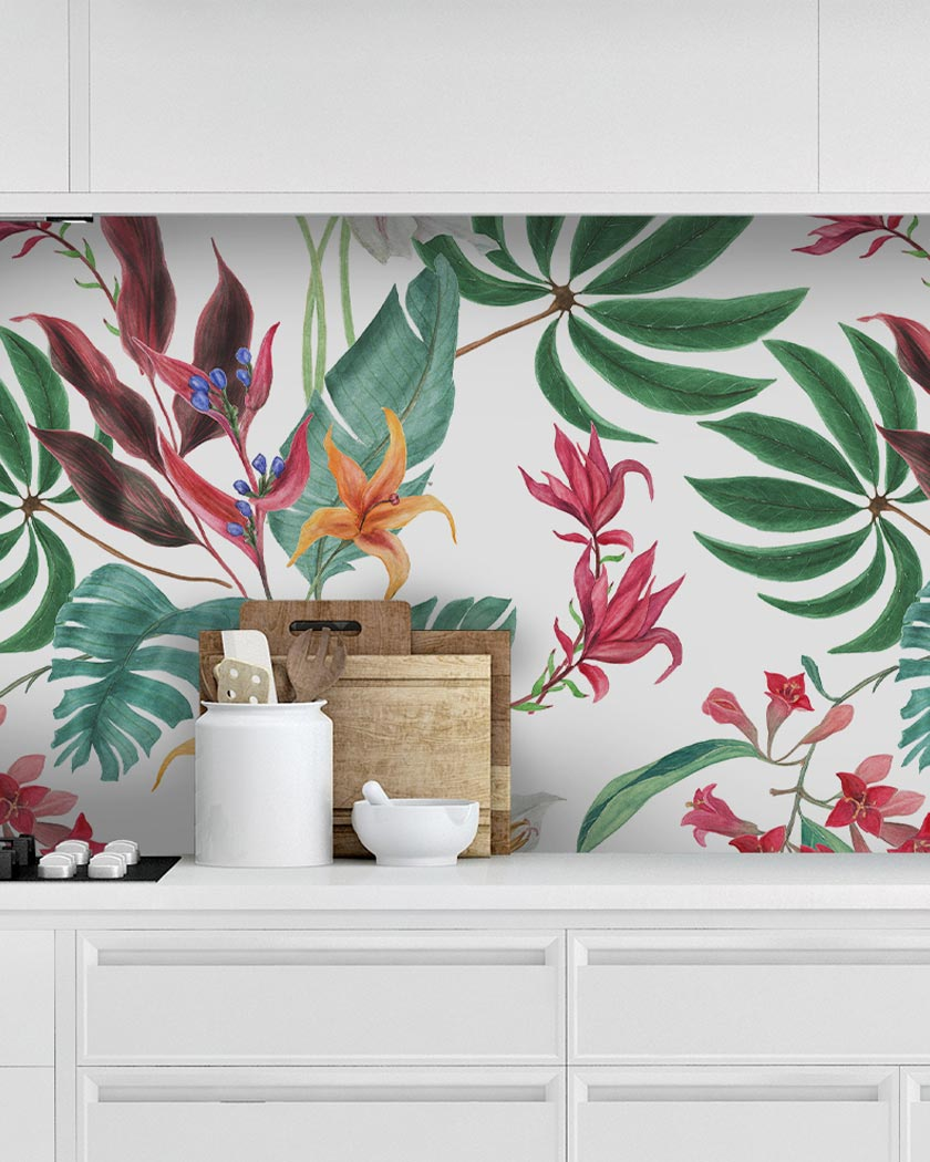 deco murale yeda sticker credence tropicale