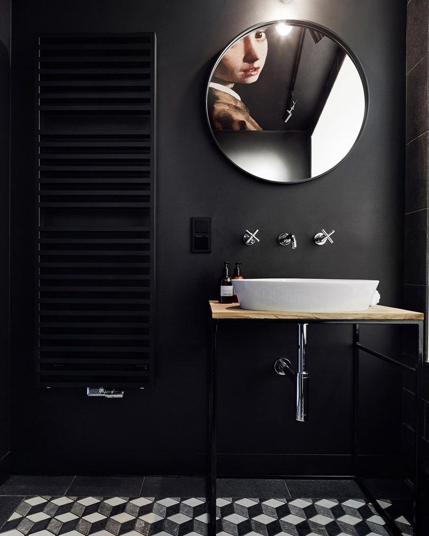 deco salle de bain moderne total look noir