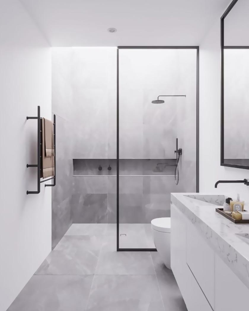 deco salle de bain moderne douche italienne