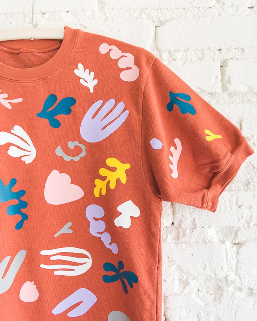 diy motif matisse pull tee shirt