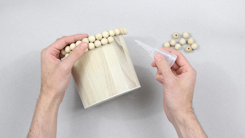 diy pot perles bois etape
