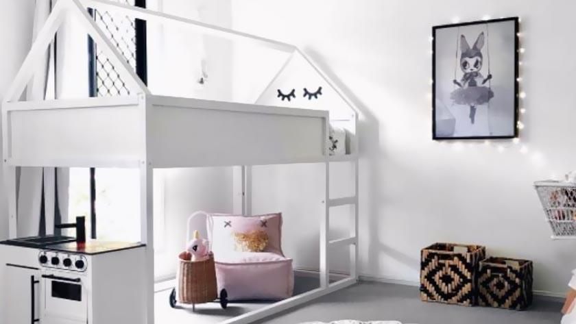 ikea hack lit kura blanc cabane maison