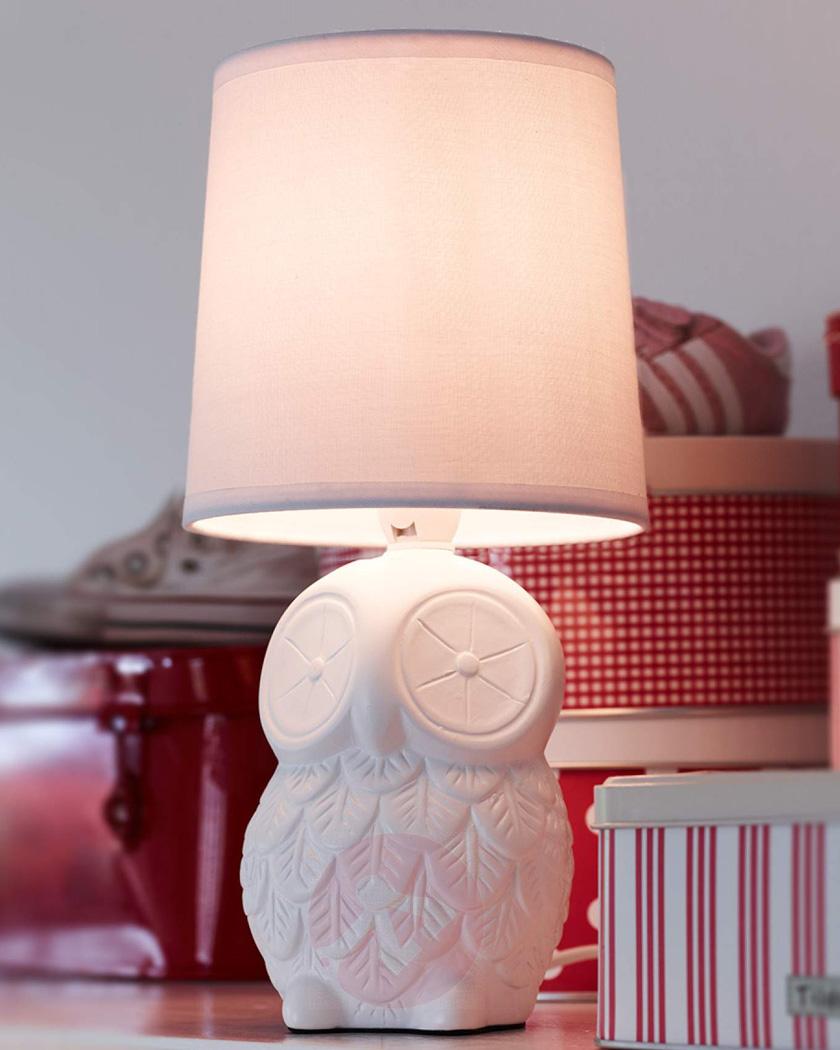 lampe chevet chambre enfant hibou