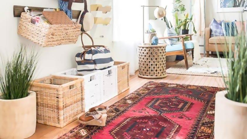 tapis persan deco entrée long