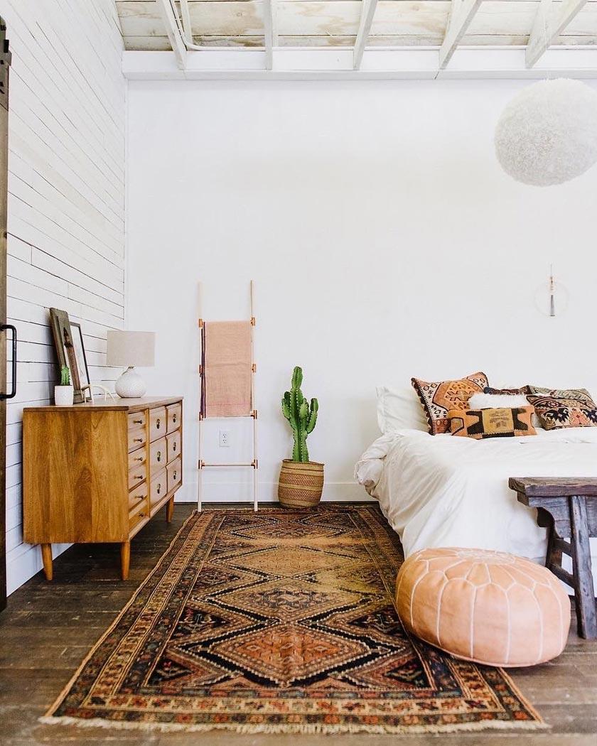 tapis persan deco chambre bohème