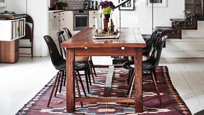 tapis persan deco salle à manger moderne