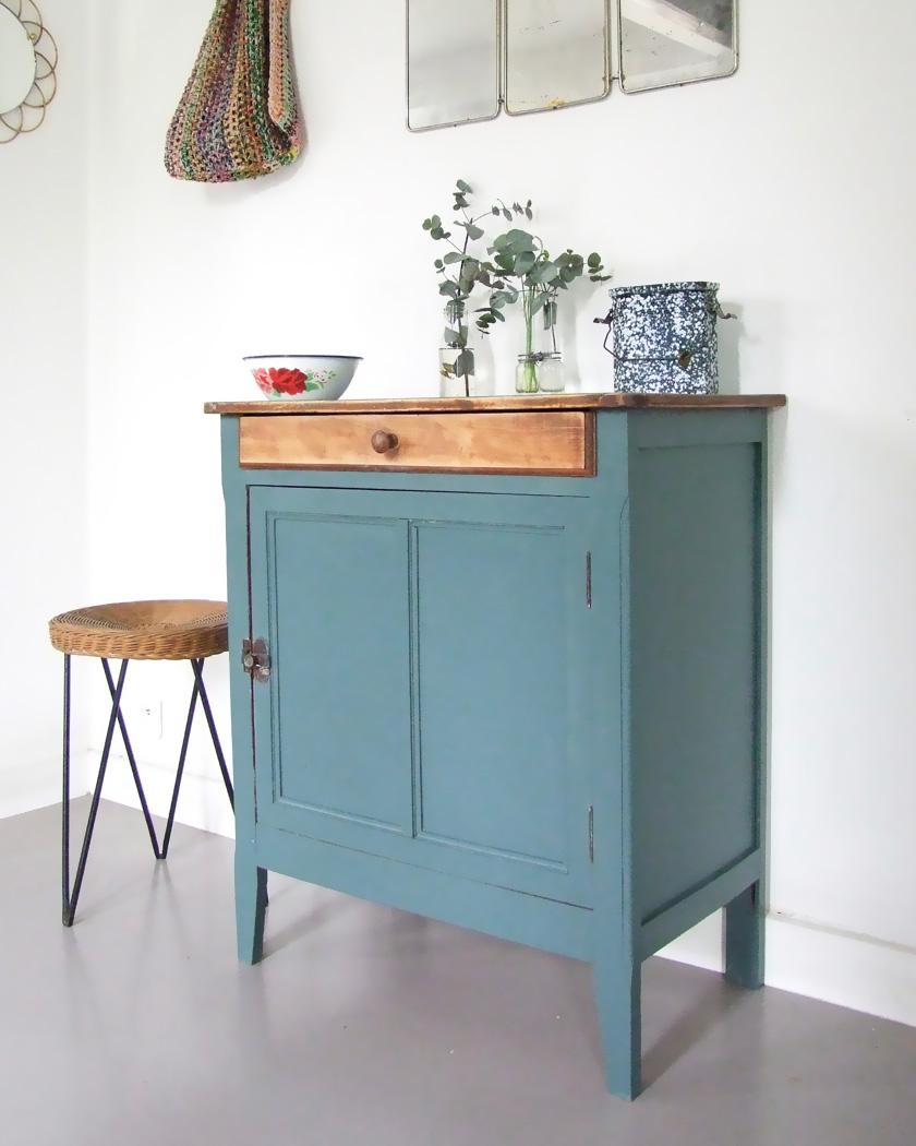 armoire parisienne deco vert basse tiroir