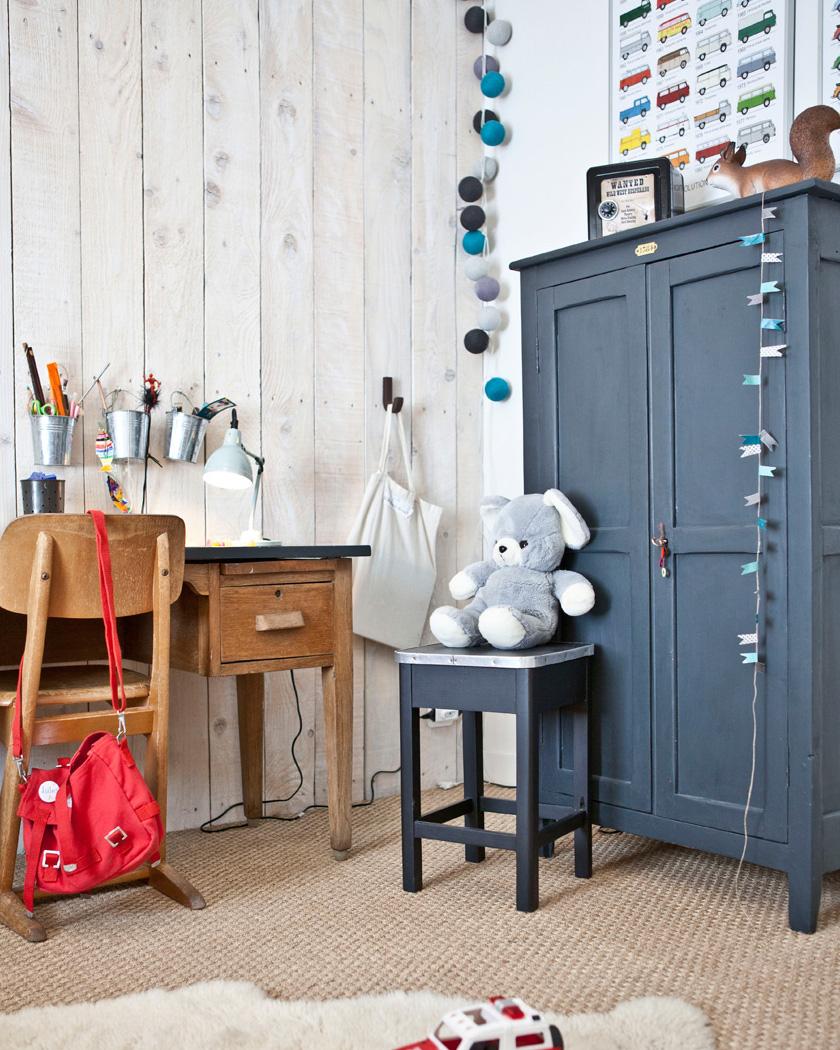 armoire parisienne deco bleu enfant