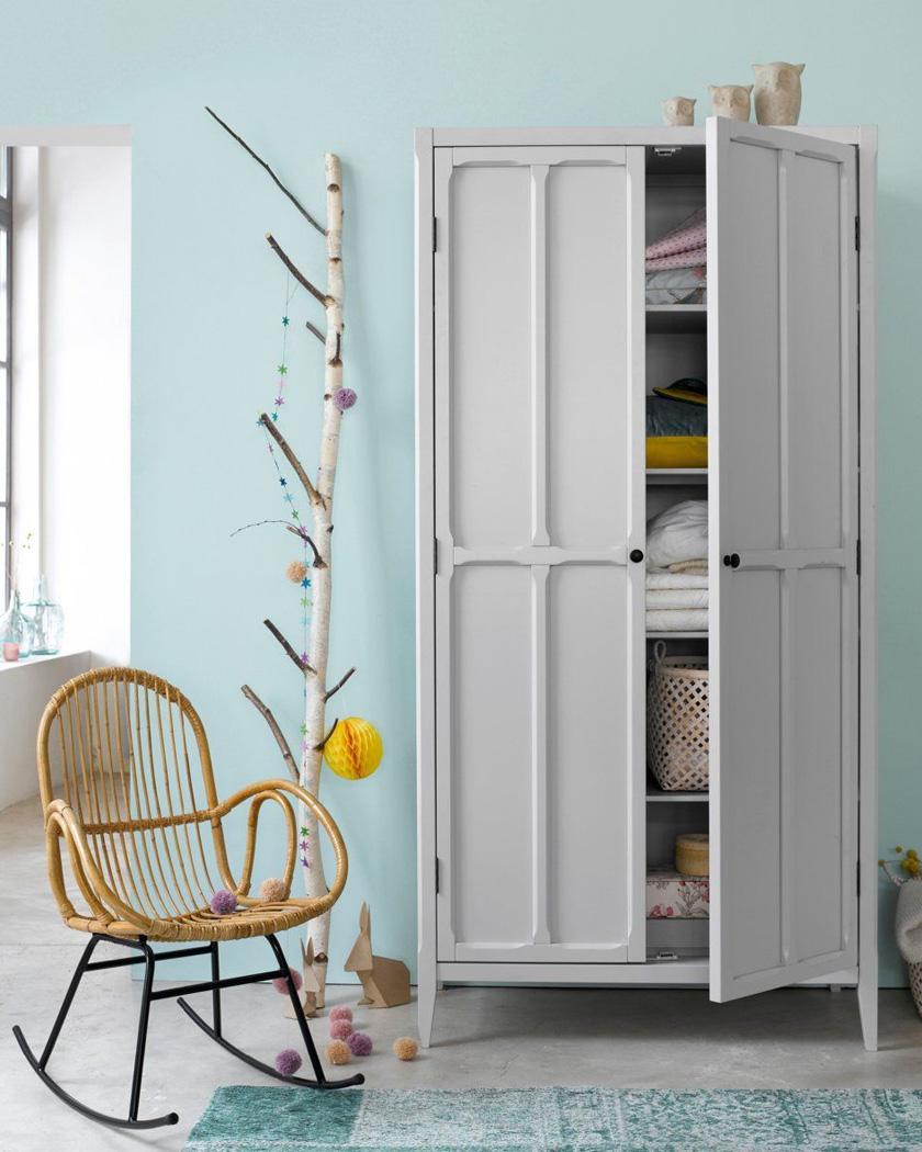 armoire parisienne deco gris clair enfant