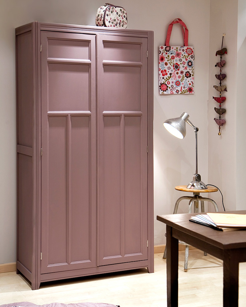 armoire parisienne deco rose enfant