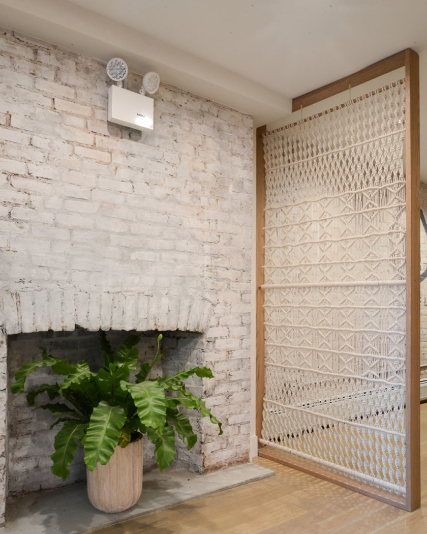 cloison amovible diy suspendue macramé cadre bois