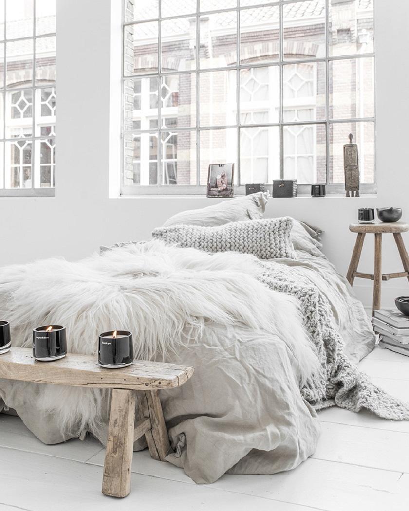 deco chambre cosy meuble bois brut